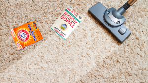 REMOVING SMOKE ODORS FROM CARPETS WITH BORAX AND BAKING SODA